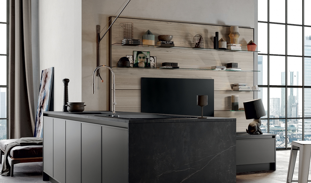 Modern Kitchen Arredo3 Aria Model 02 - 02