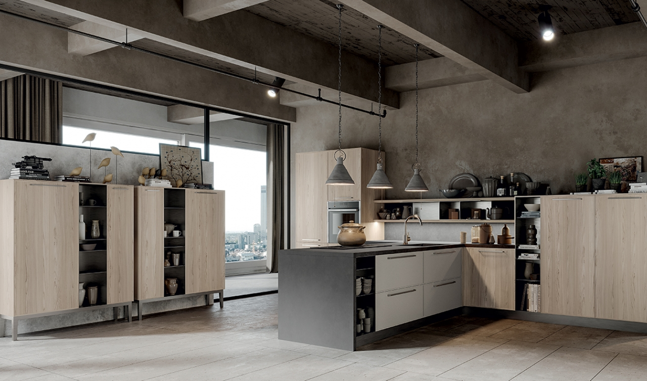 Modern Kitchen Arredo3 Aria Model 05