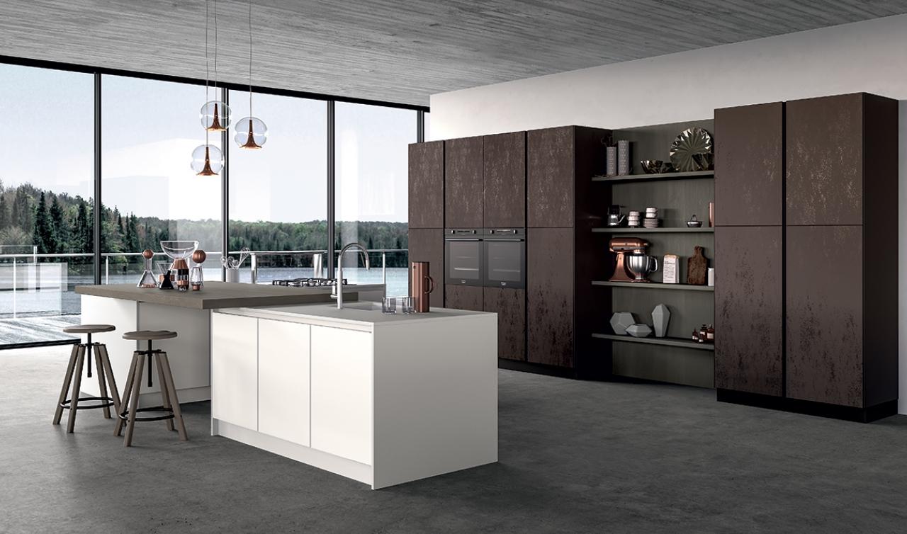 Modern Kitchen Arredo3 Glass Model 01