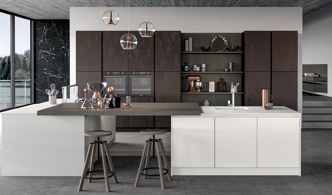 Modern Kitchen Arredo3 Glass Model 01 - 03