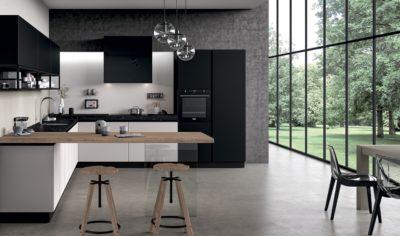 Modern Kitchen Arredo3 Glass Model 02 - 01