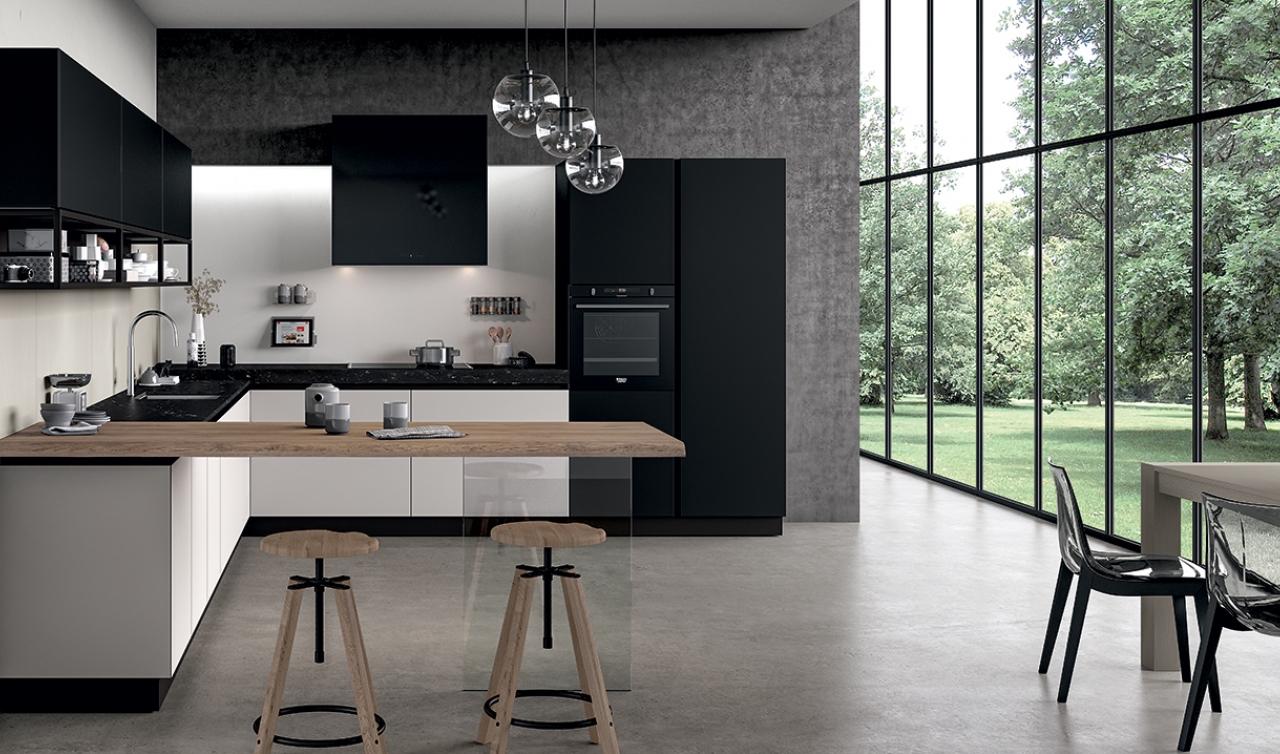Modern Kitchen Arredo3 Glass Model 02