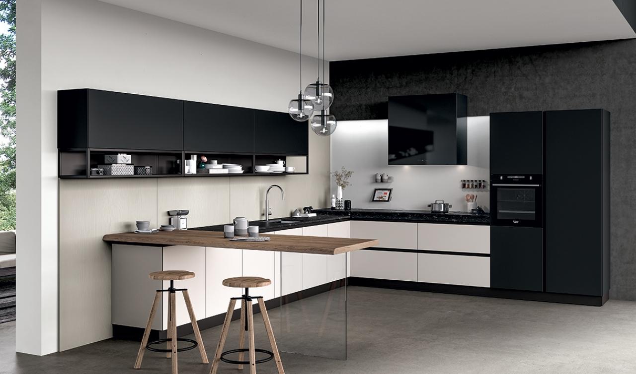 Modern Kitchen Arredo3 Glass Model 02 - 05