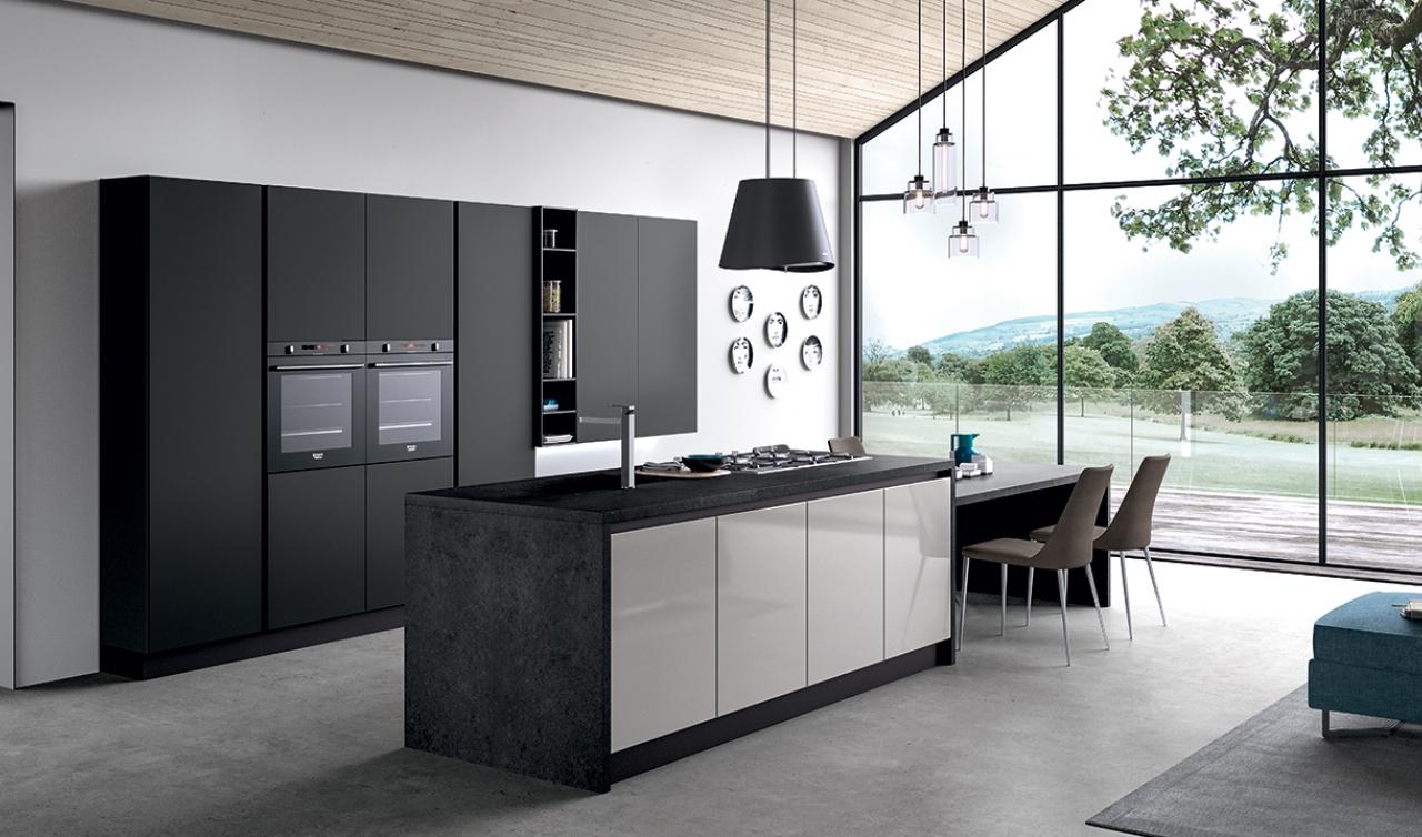 Modern Kitchen Arredo3 Glass Model 03