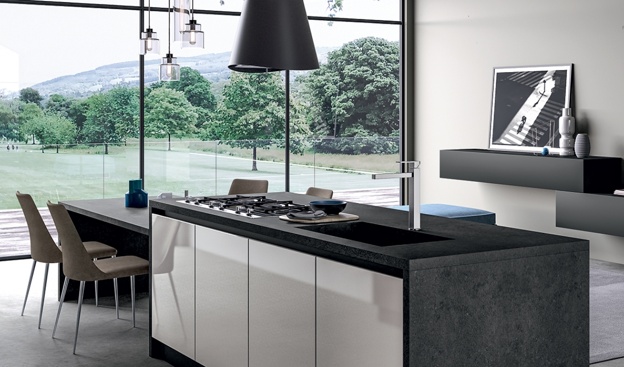 Modern Kitchen Arredo3 Glass Model 03 - 02