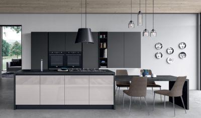 Modern Kitchen Arredo3 Glass Model 03 - 03