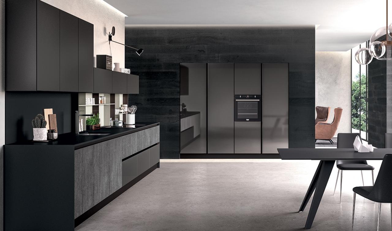 Modern Kitchen Arredo3 Glass Model 04