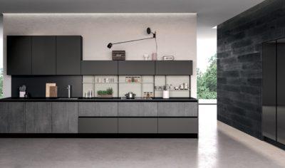 Modern Kitchen Arredo3 Glass Model 04 - 02