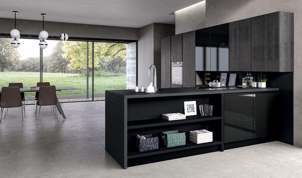 Modern Kitchen Arredo3 Glass Model 05