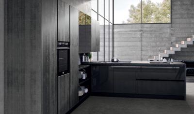 Modern Kitchen Arredo3 Glass Model 05 - 02