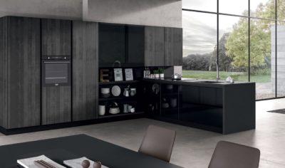 Modern Kitchen Arredo3 Glass Model 05 - 05