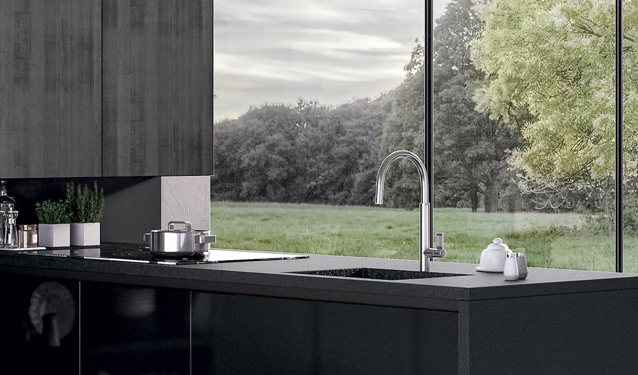 Modern Kitchen Arredo3 Glass Model 05 - 06