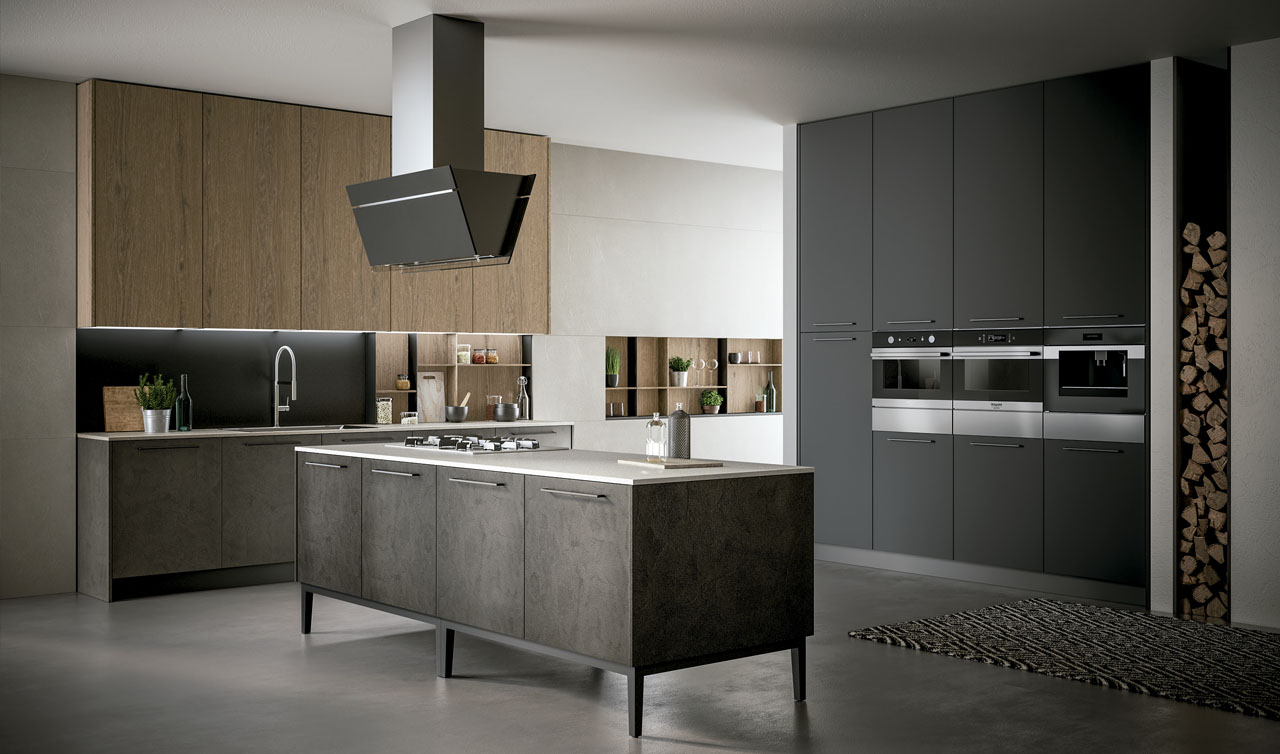 Modern Kitchen Arredo3 Kalì Model 9
