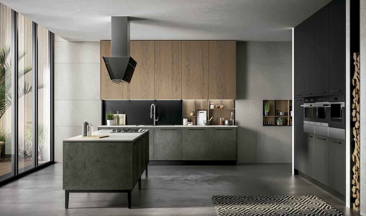Modern Kitchen Arredo3 Kali Model 9
