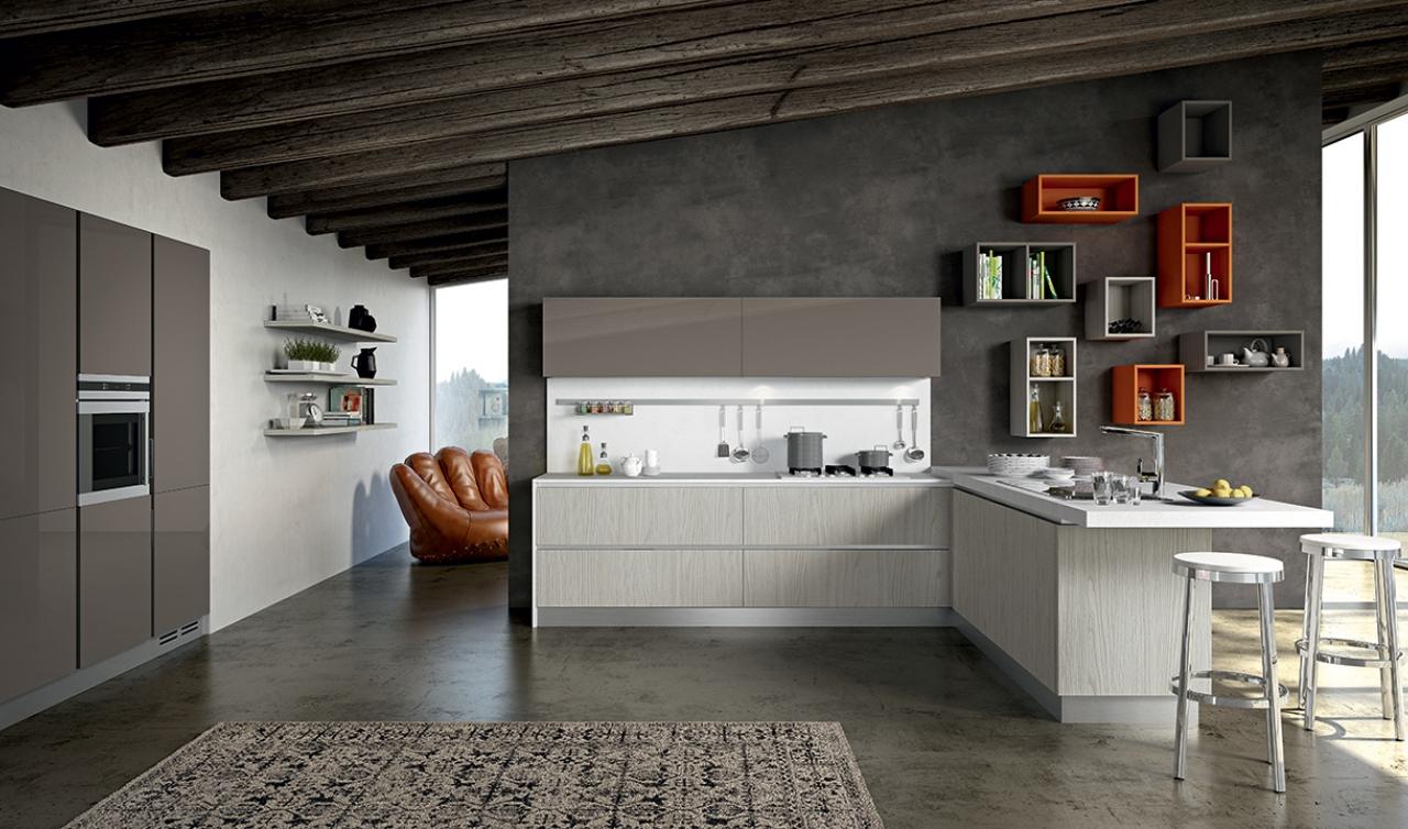 Modern Kitchen Arredo3 Linea Model 01