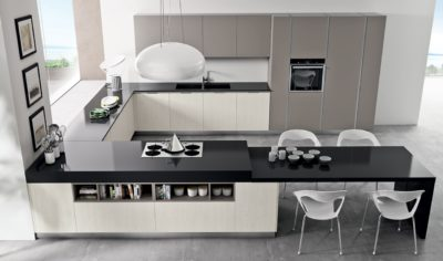Modern Kitchen Arredo3 Linea Model 04 - 01
