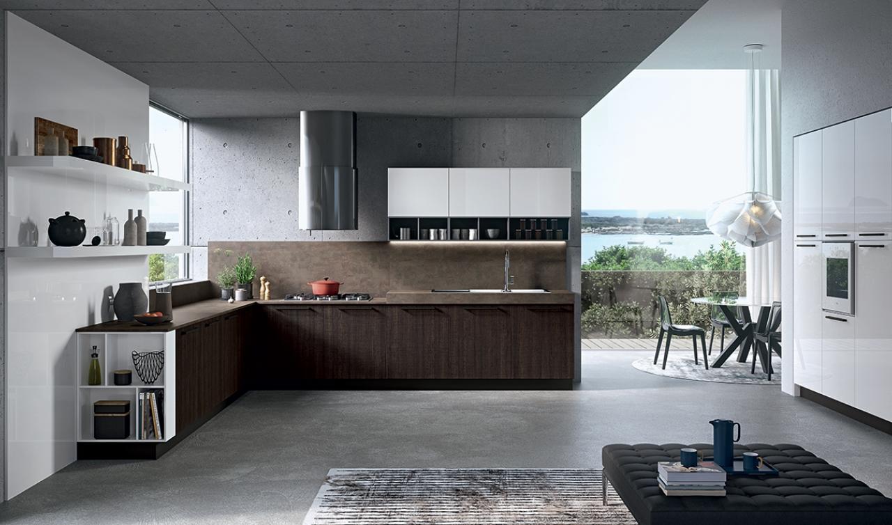 Modern Kitchen Arredo3 Round Model 01