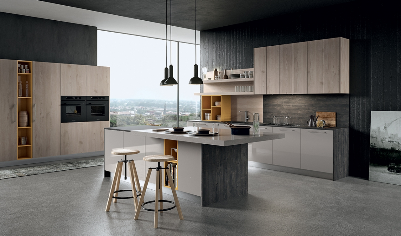Modern Kitchen Arredo3 Round Model 04