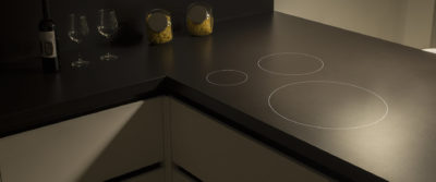 Casa Interior Cooking Rak: Induction hob integrated in the countertop