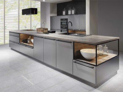 Modern Kitchen Küchentime Inox 216 N