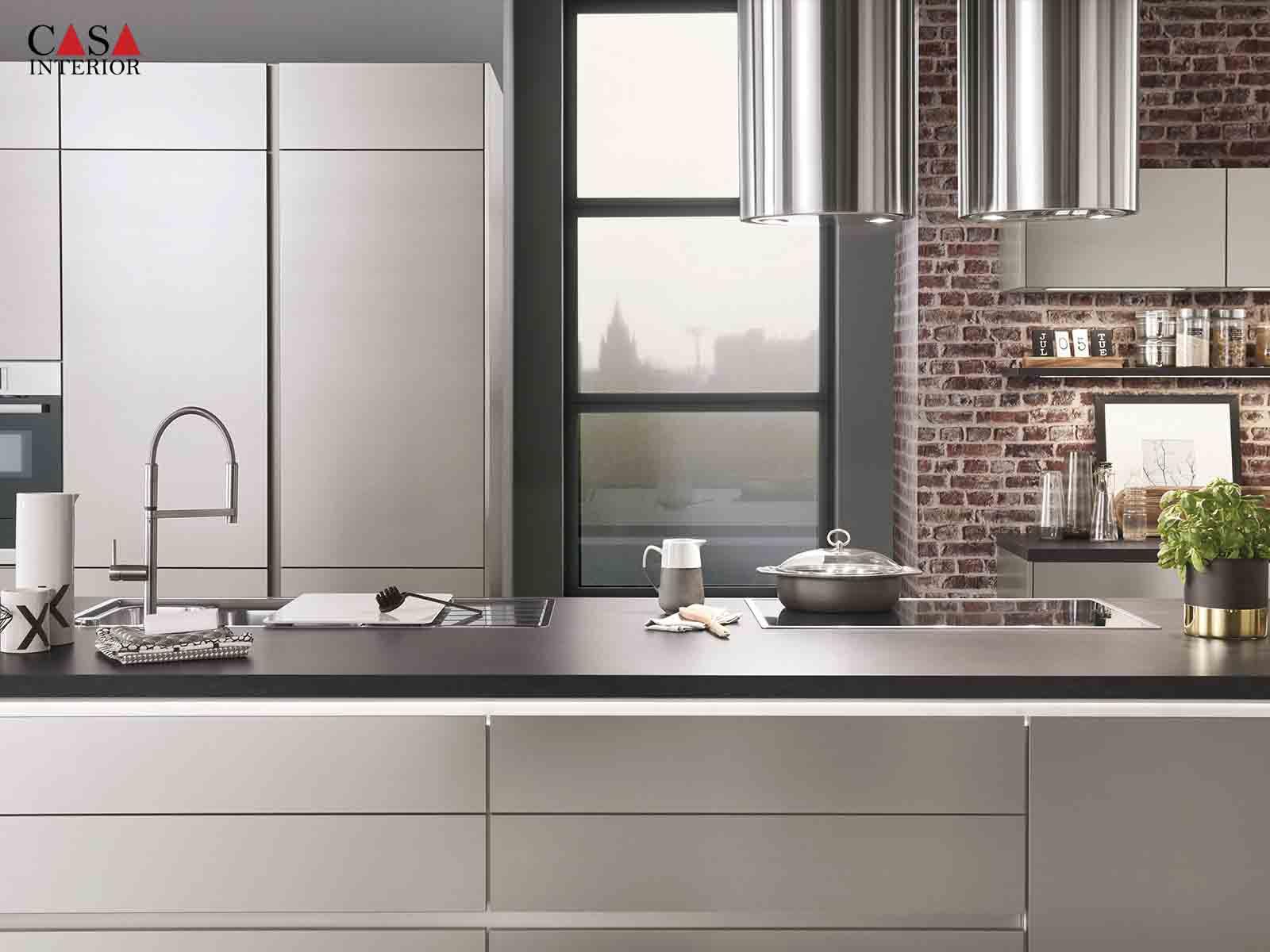 Modern Kitchen Küchentime Inox 216