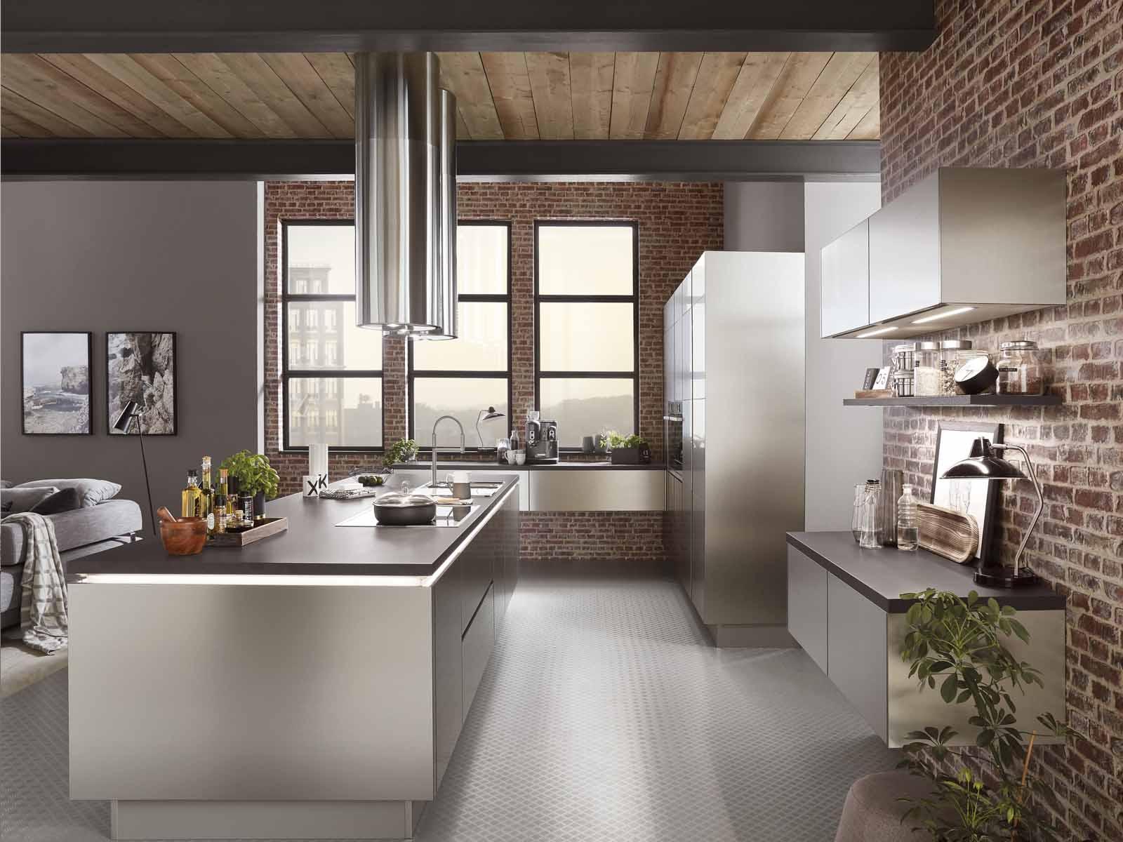 Modern Kitchen Küchentime Inox 216 Line N