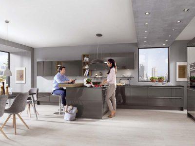 Modern Kitchen Küchentime Lux 823