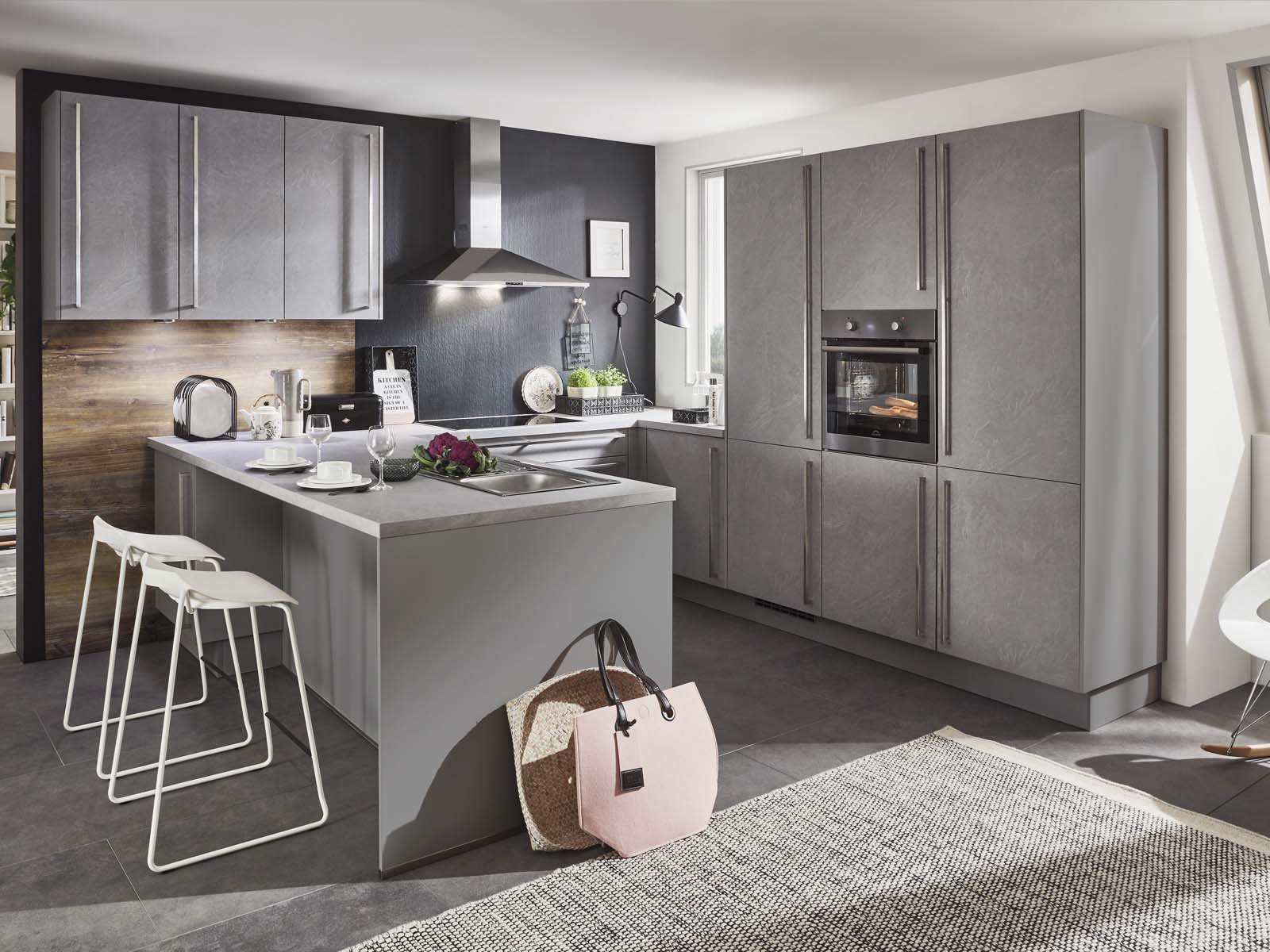 Modern Kitchen Küchentime StoneArt 304