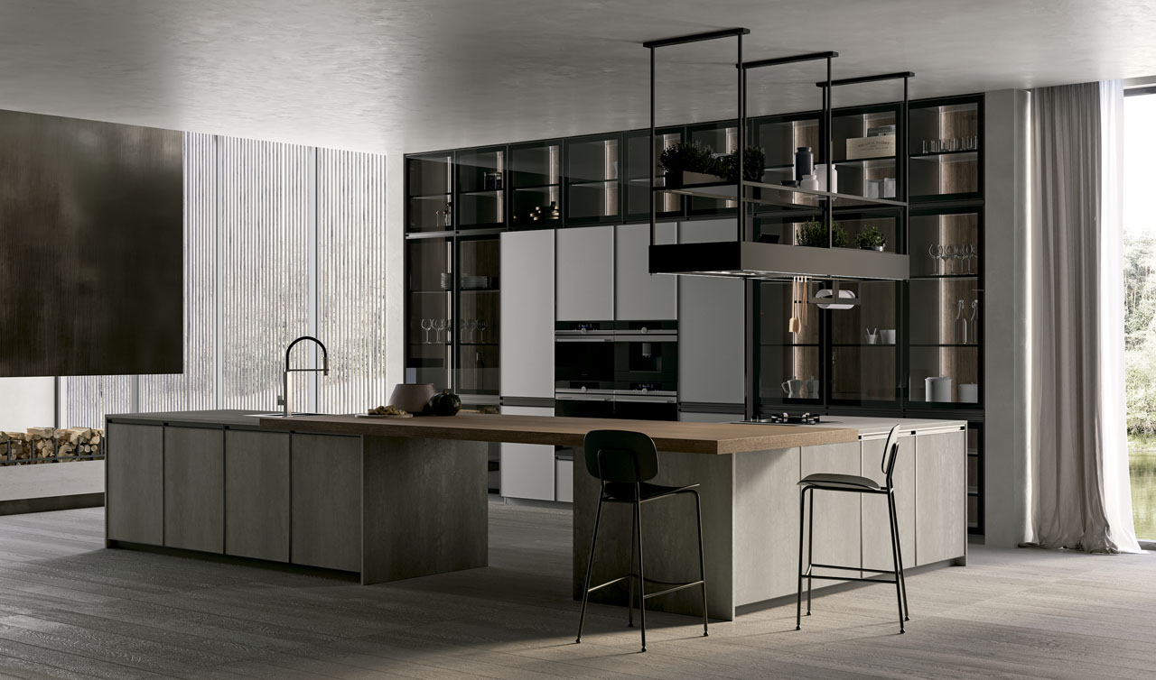 Modern Kitchen Arredo3 Kronos Model 6