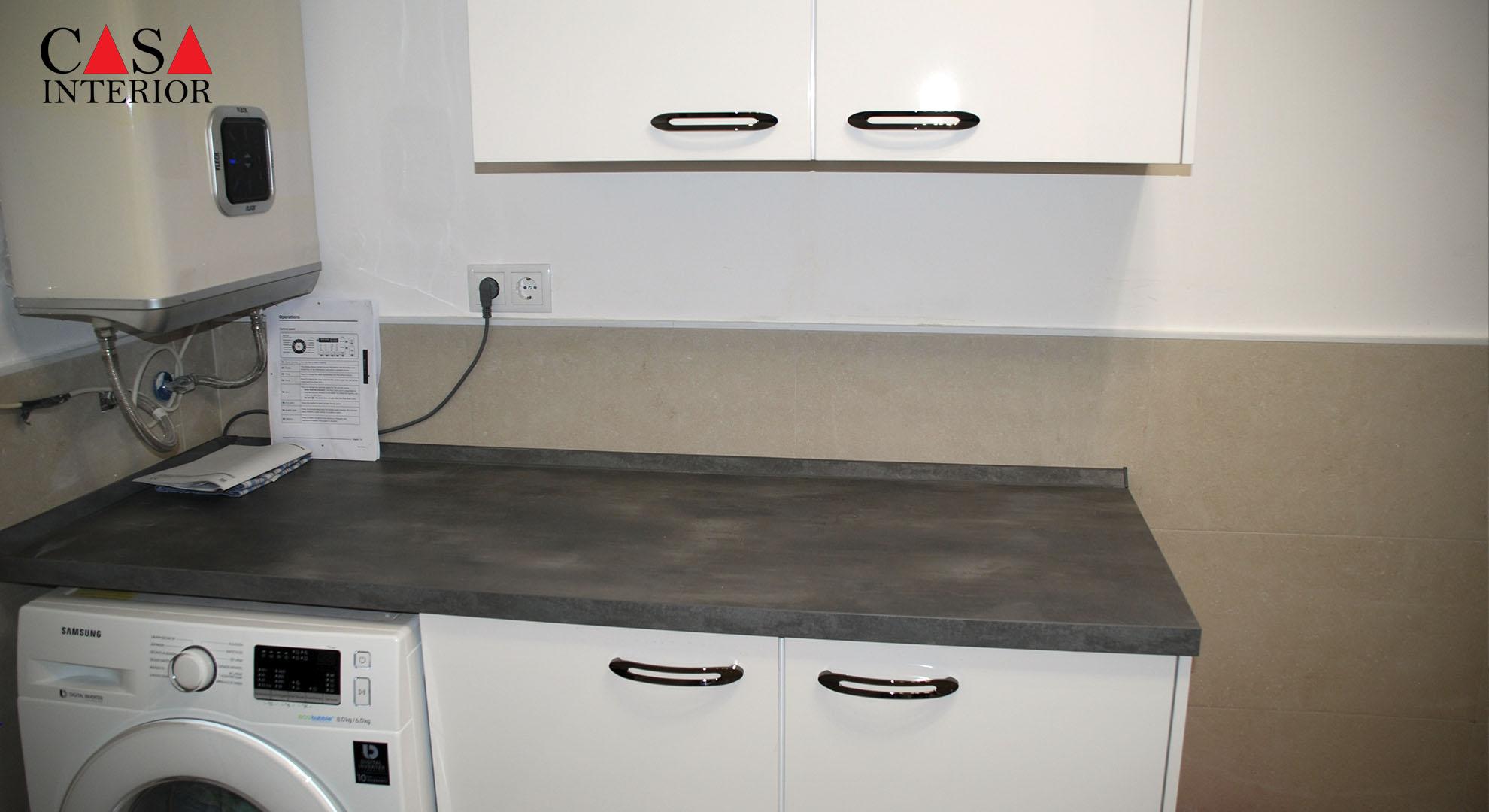 Küchentime Flash Alpine White High Gloss Alfaz del Pi - Laundry Room (2)