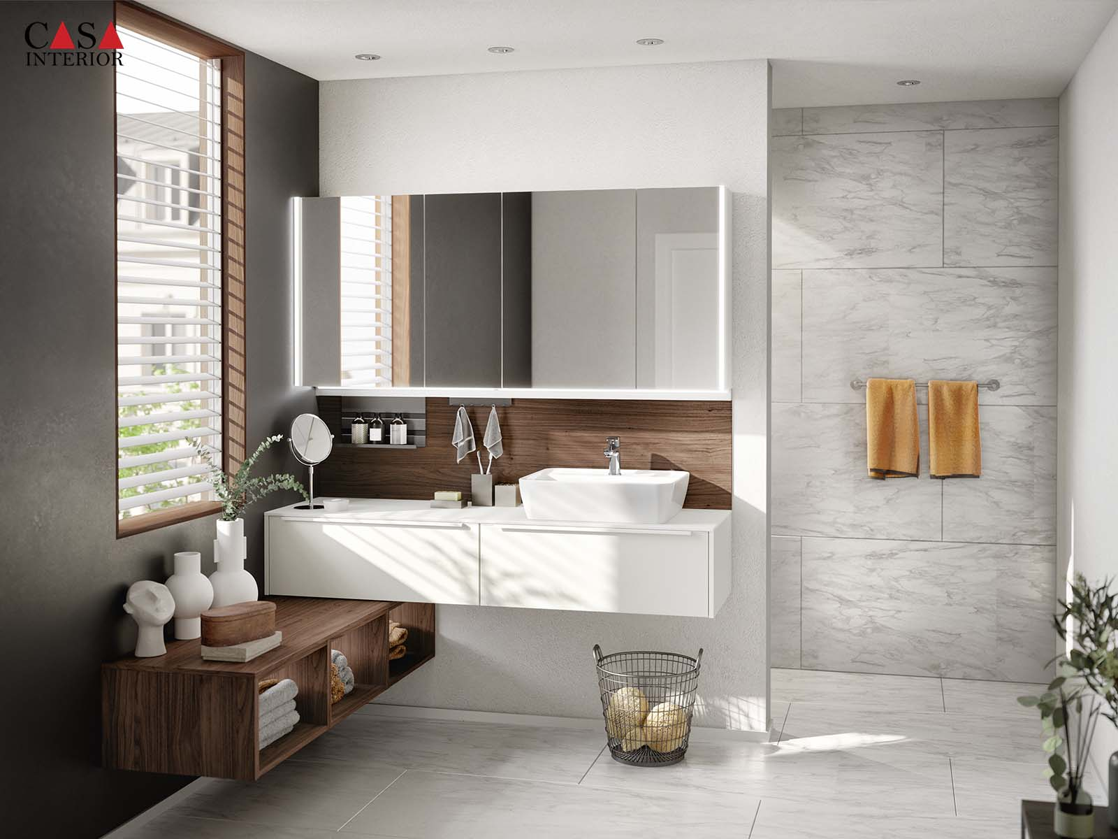 Bathroom 2021 - Küchentime Easytouch 967 - Warm Grove