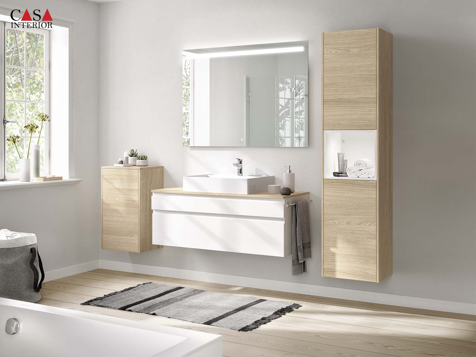 Küchentime Inline Lacquer, honed alpine white 551 - Bathroom