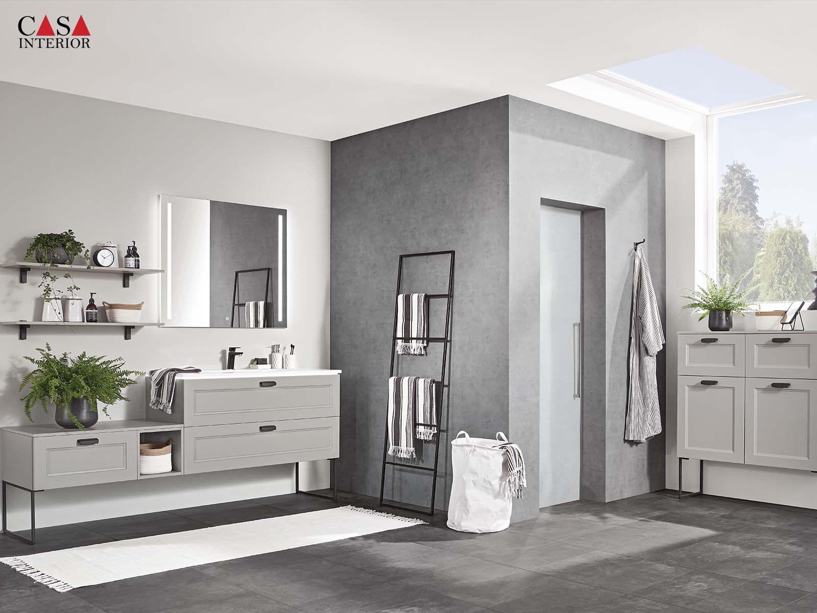 Küchentime Cascada Lacquered laminate, stone grey 772 - Bathroom