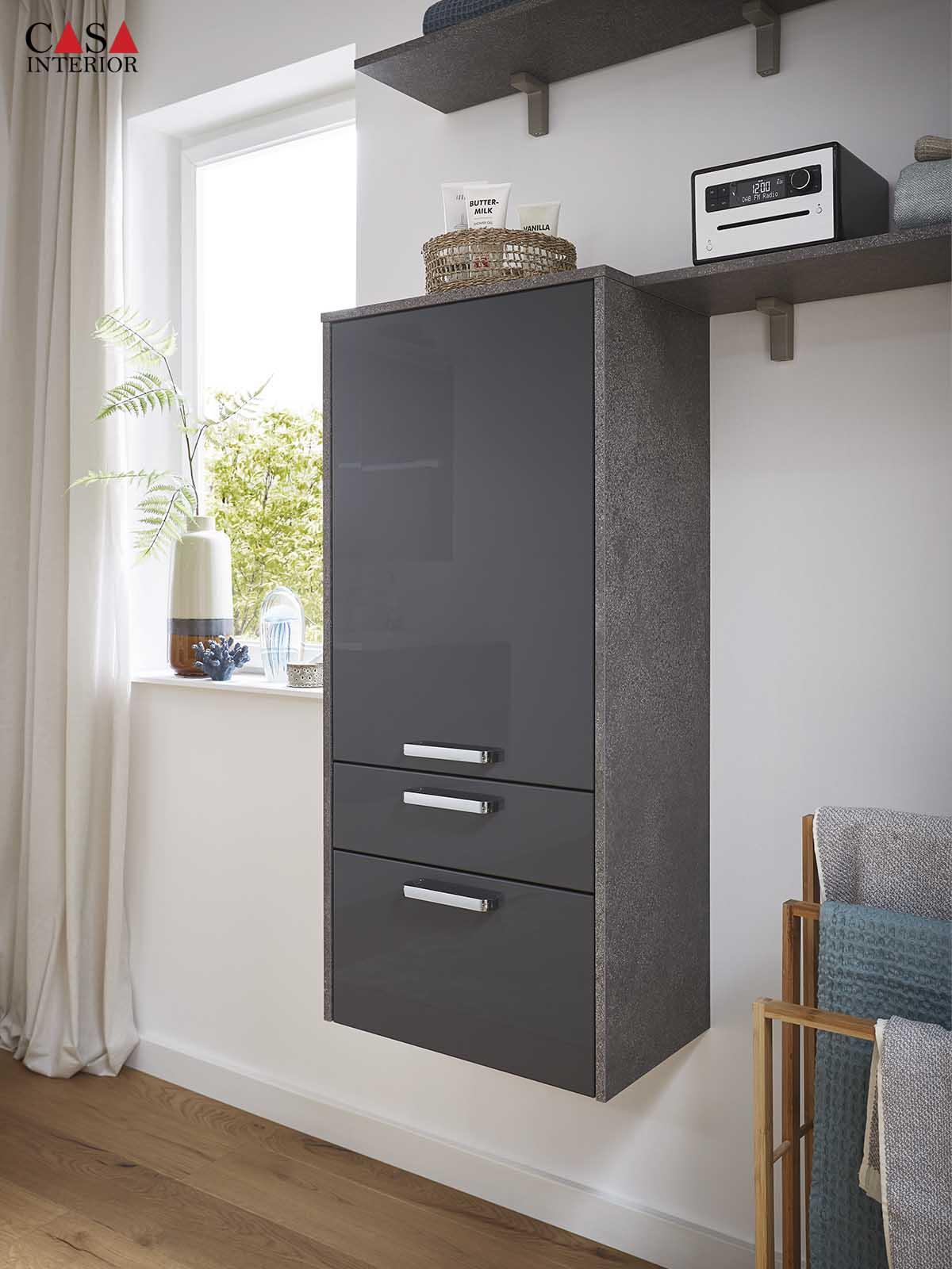 Küchentime Flash Lacquered laminate, slate grey high gloss 453 - Bathroom