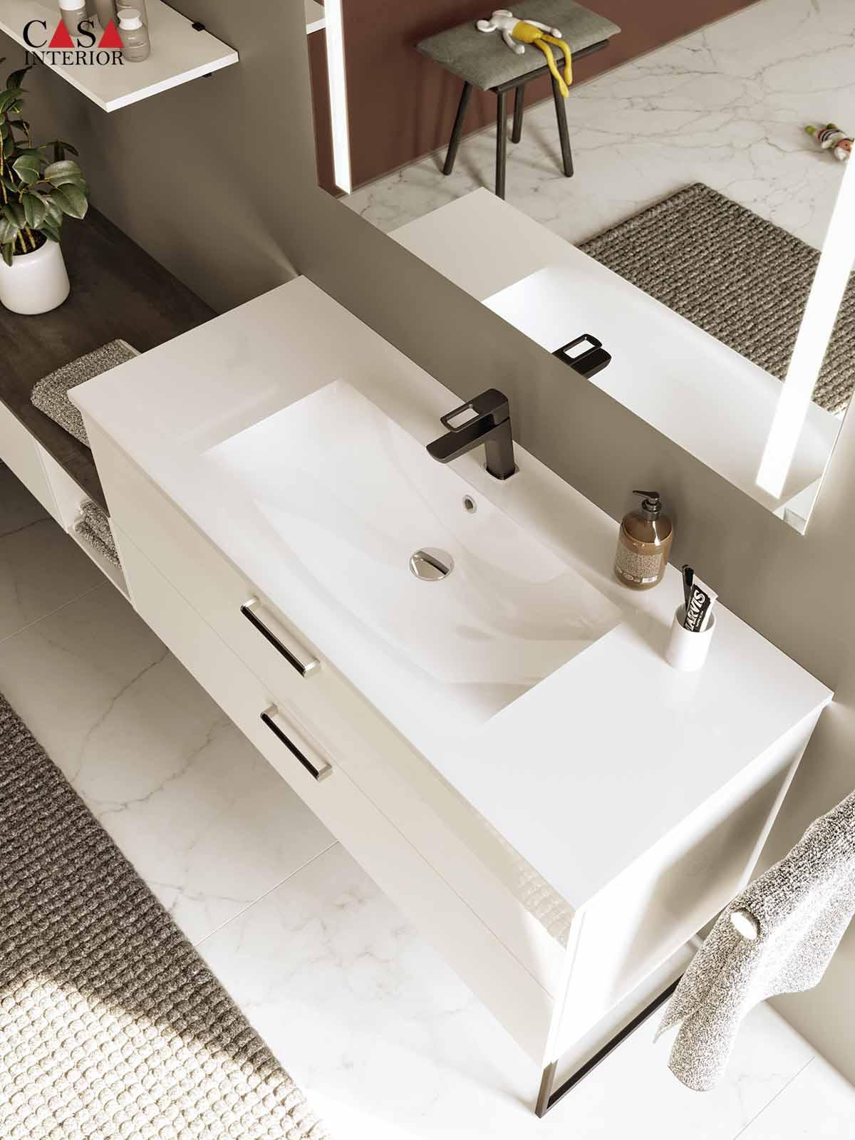 Küchentime Flash Lacquered laminate, alpine white high gloss 503 - Bathroom