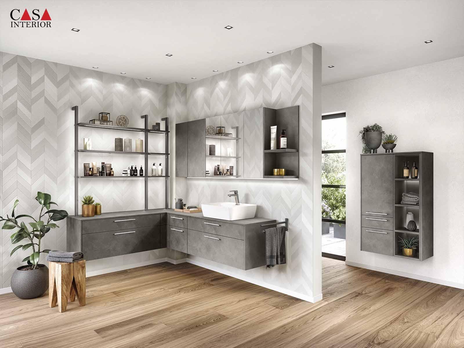 Küchentime Riva Concrete Terra grey reproduction 839 - Bathroom