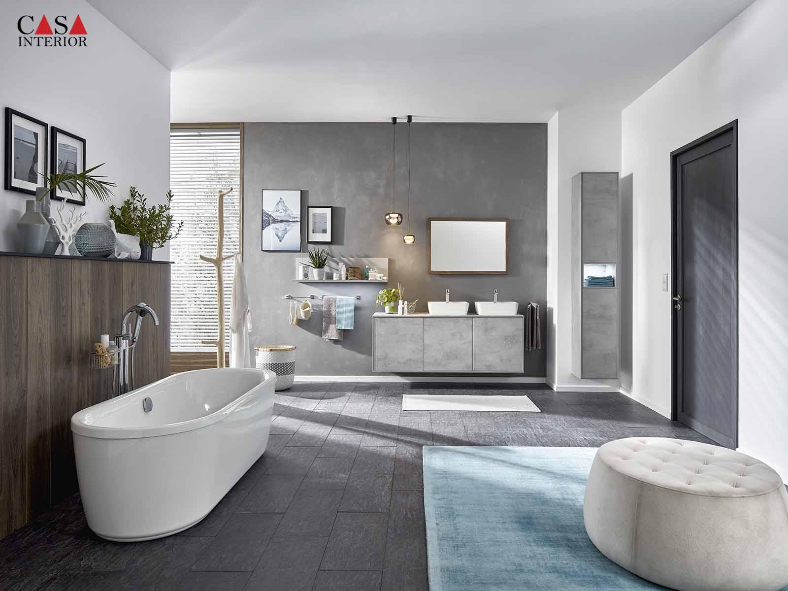 Küchentime Riva Concrete grey reproduction 892 - Bathroom
