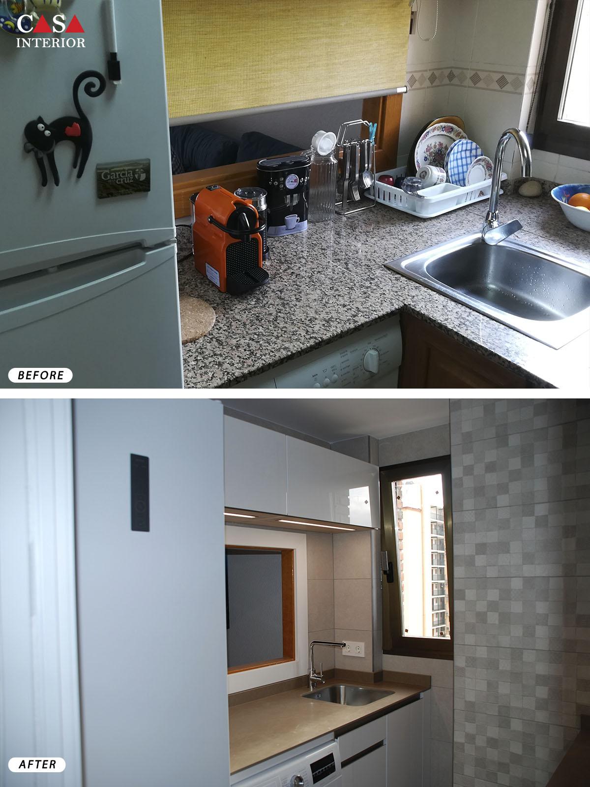 Küchentime Flash Alpine White Glossy in Benidorm
